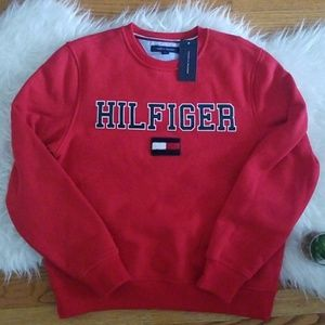 Tommy Hilfiger Red Hilfiger Flag Sweatshirt